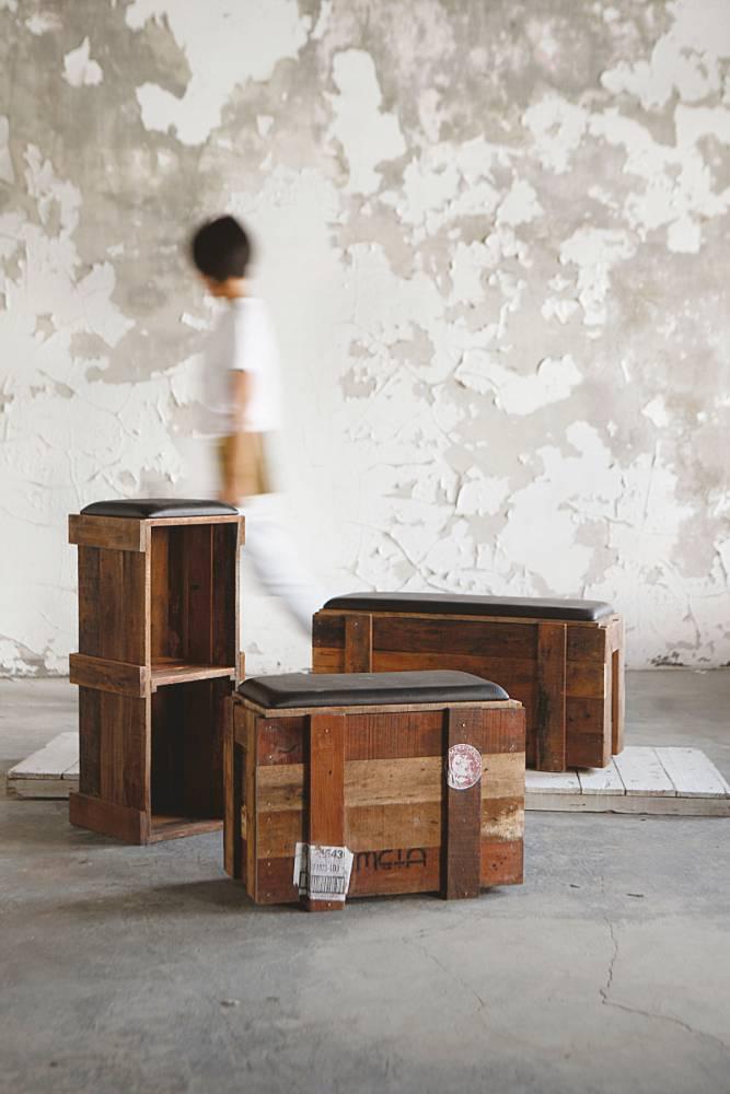 La Vie META DESIGN 設計總監鄭遠揚-回收木箱椅