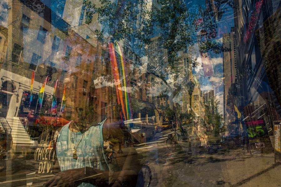 層層疊疊重曝大城市風景!攝影師將世界疊在底片裡!