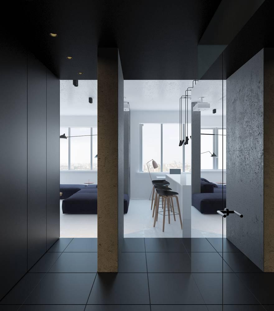 極簡得恰到好處!黑白灰三色女子單身公寓展現品味個性