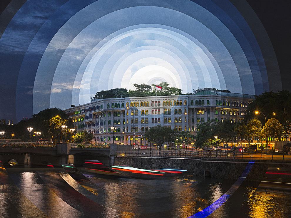 拍下城市從黑夜道曙光射下的進程!特殊攝影紀錄時間推移!