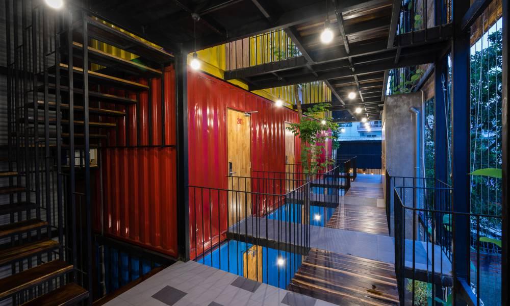 越南最潮青年背包旅店!貨櫃融合在地設計元素色彩超吸睛 - LaVie 設計改變世界