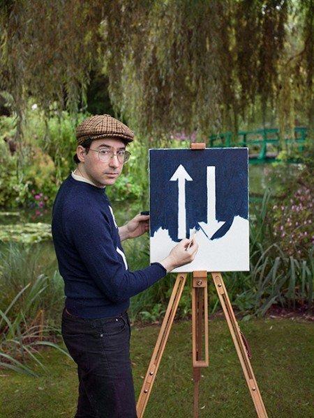 走訪莫內、梵谷畫中名景!德國藝術家不畫美景改玩「幽默」讓身上服裝入畫