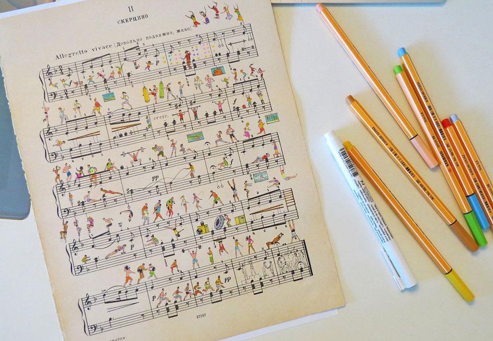音符動起來了!俄羅斯插畫家為五線譜畫上創意故事_07