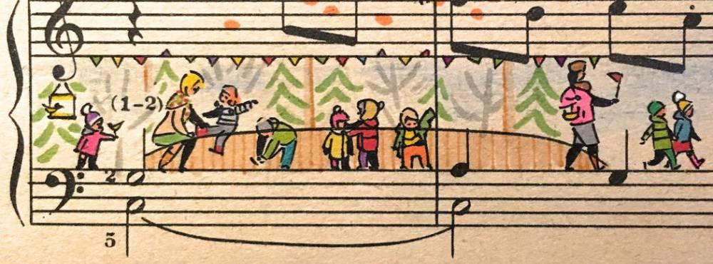 音符動起來了!俄羅斯插畫家為五線譜畫上創意故事