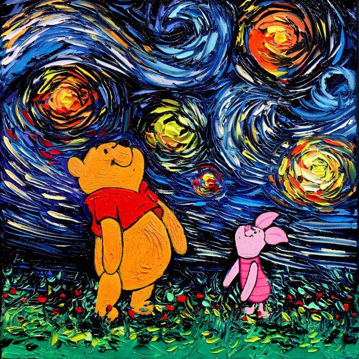 美國藝術家Aja Kusick-小熊維尼與小豬