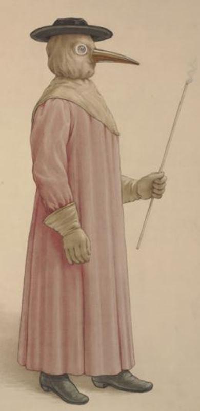 17 世紀鼠疫醫生的裝扮