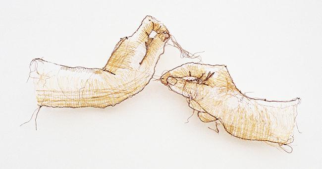 彷彿一吹即散的「線畫」!加拿大藝術家將平面刺繡變身夢幻立體錦簇花團!_06