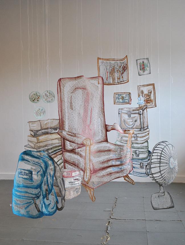 彷彿一吹即散的「線畫」!加拿大藝術家將平面刺繡變身夢幻立體錦簇花團!_05