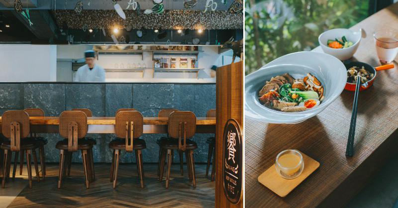 北歐風牛肉麵空間+12000支木匙藝術裝置!台北東區「饗拌麵」獨創風味牛油球配牛肉麵新吃法 | La Vie