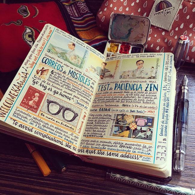前航空工程師超細膩手繪紀錄環遊世界!裝滿12本Moleskine筆記的旅行藝術!4