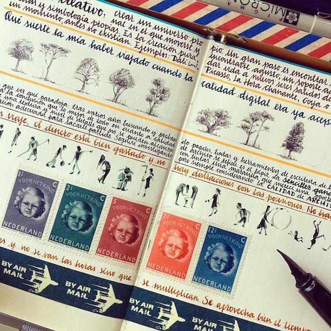 前航空工程師超細膩手繪紀錄環遊世界!裝滿12本Moleskine筆記的旅行藝術!5