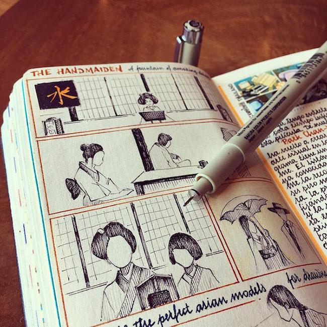 前航空工程師超細膩手繪紀錄環遊世界!裝滿12本Moleskine筆記的旅行藝術!6