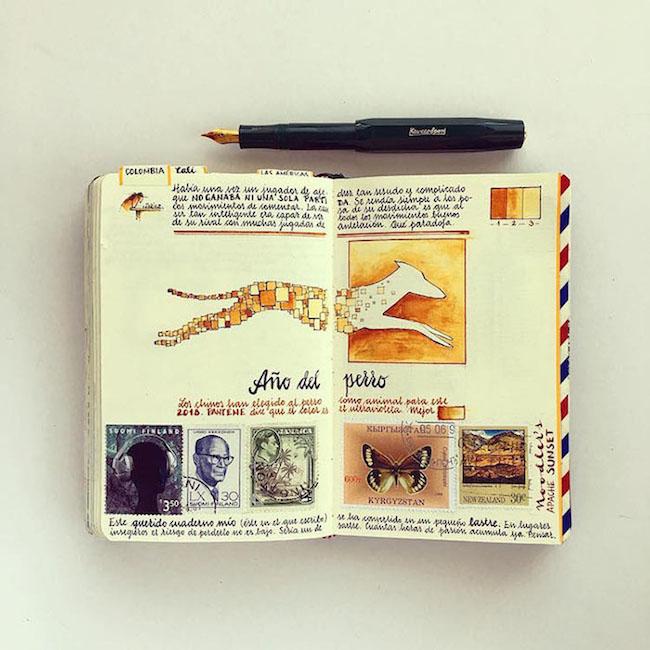 前航空工程師超細膩手繪紀錄環遊世界!裝滿12本Moleskine筆記的旅行藝術!7