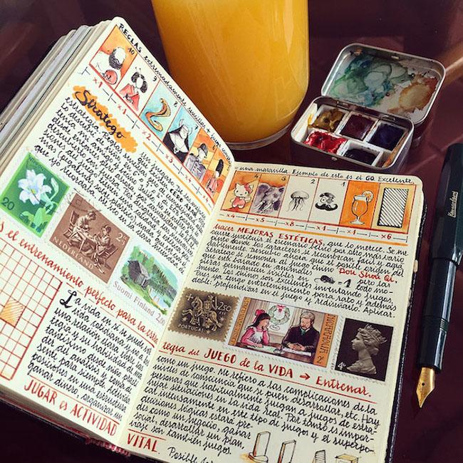 前航空工程師超細膩手繪紀錄環遊世界!裝滿12本Moleskine筆記的旅行藝術!11