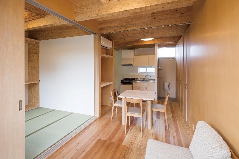 坂茂與熊本縣政府合作的臨時住宅
