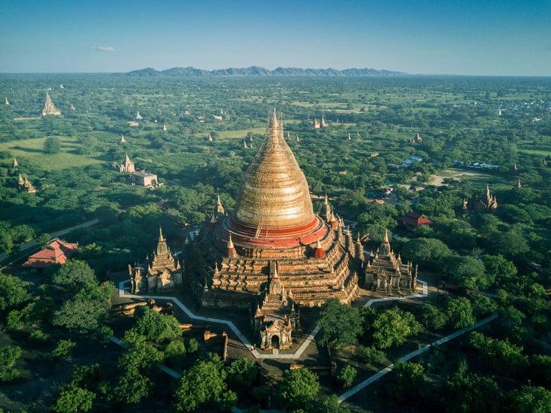 從俯瞰視角空拍緬甸佛塔的華麗與神秘!保加利亞建築師捕捉萬塔之國瑰麗一面_05