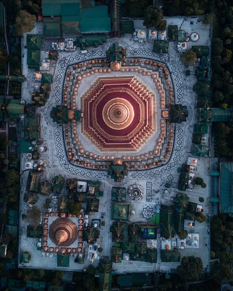 從俯瞰視角空拍緬甸佛塔的華麗與神秘!保加利亞建築師捕捉萬塔之國瑰麗一面_06