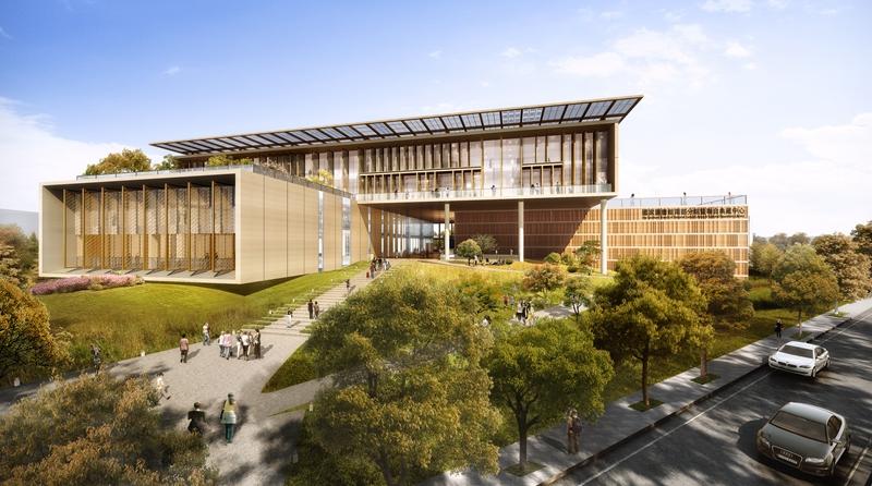 台南「國家圖書館南部分館」南側入口