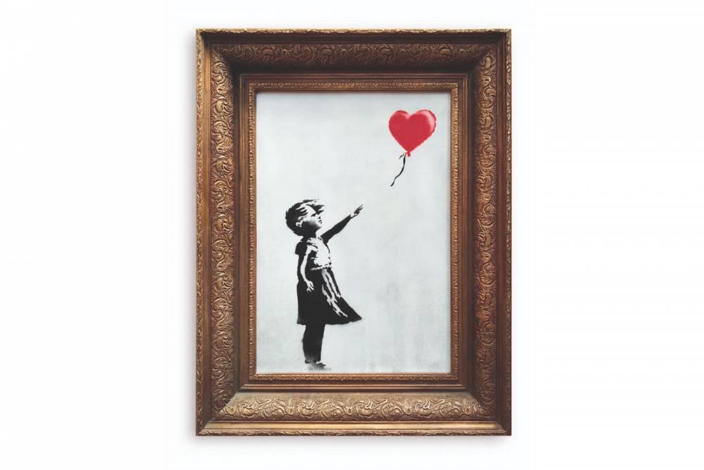 Banksy自毀《氣球女孩》作品