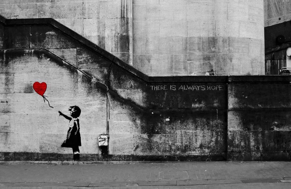 Banksy創作的《氣球女孩》成為英國最受歡迎藝術作品