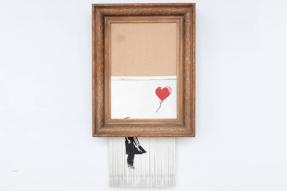 Banksy《Love is in the Bin》