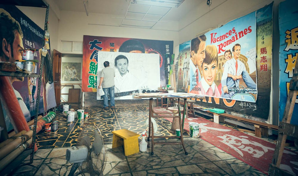 台灣看板畫師謝森山的匠人魂!手繪電影看板一甲子「我的一切都是從電影彩繪而來的」_10