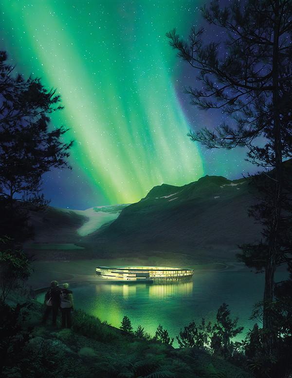 北極冰河旅宿, 自體發電中!圖片提供◎Snøhetta