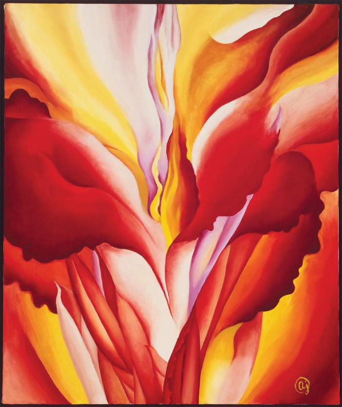 歐姬芙對於花朵的創作相當豐富,也是其藝術作品的代表特色