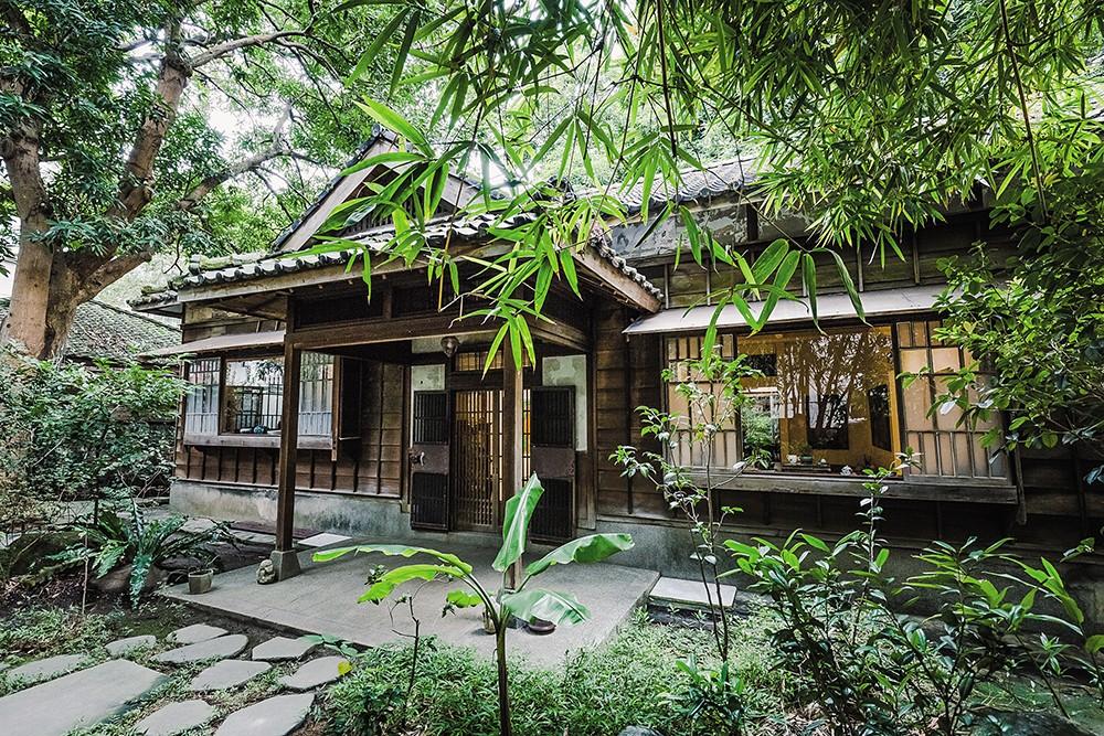 經修復後的青田茶館,仍可以看到最初日式建築的精心設計。