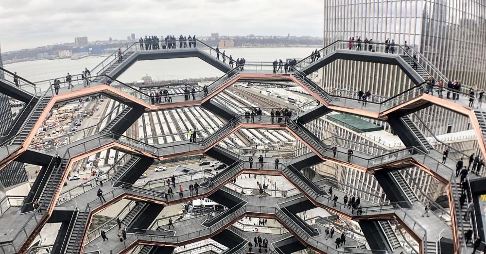 鬼才海澤維克操刀紐約新地標Vessel!蜂巢結構、154個霍格華茲式樓梯成奇幻建築