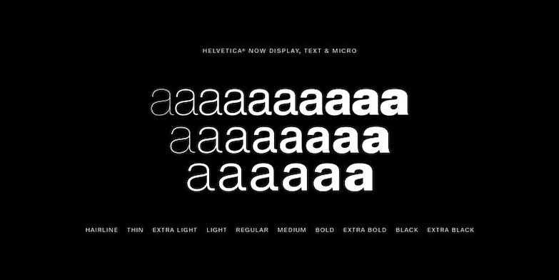 Helvetica時隔35年全新「Helvetica Now」字體登場