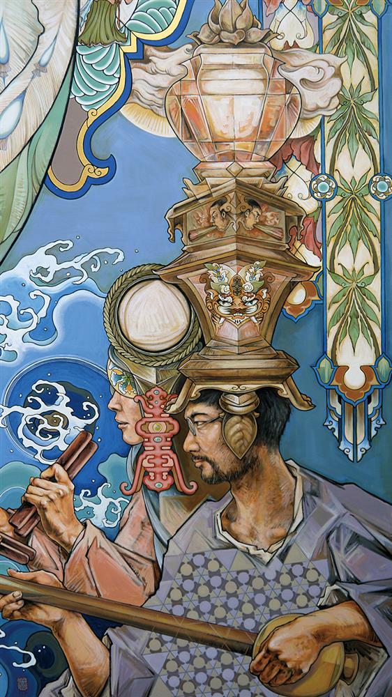 台南普濟殿遇上壁畫師許荷西《普濟時光》