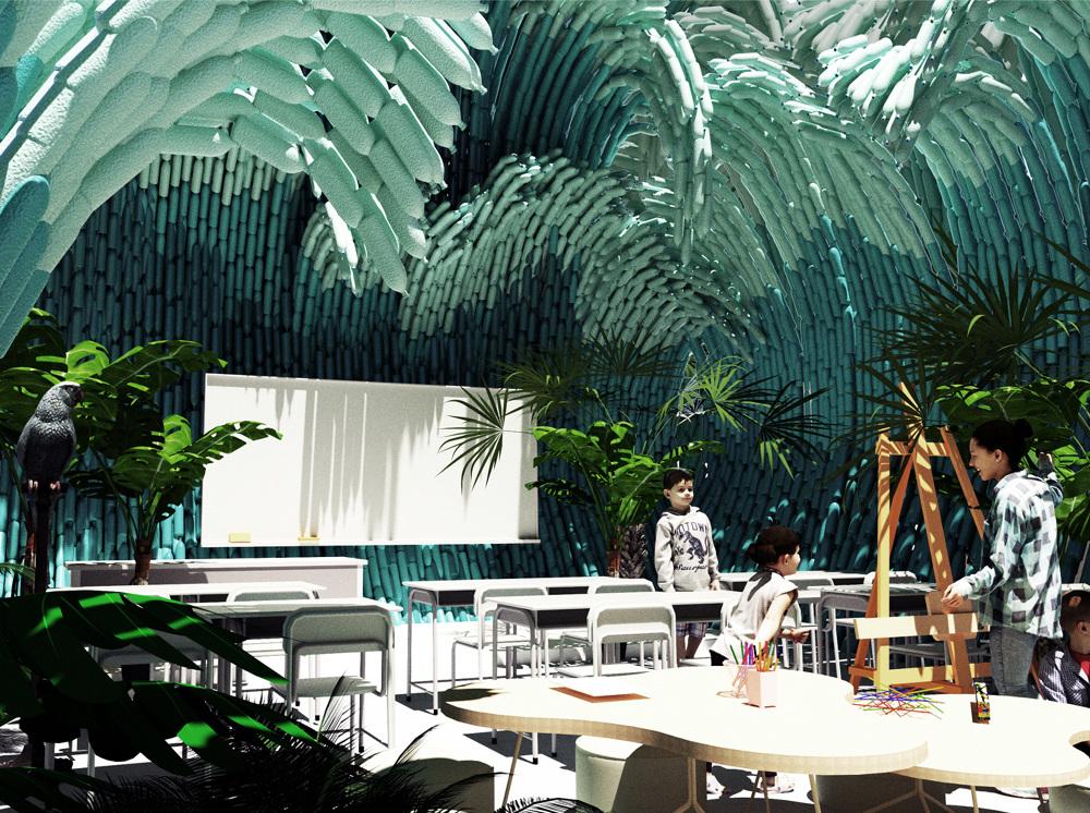 瑞典UMA建築團隊寶特瓶打造的千層巨浪!妝點墨西哥藝術學校4
