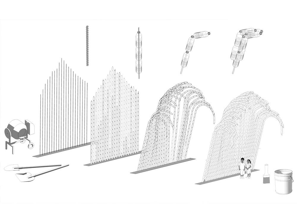 瑞典UMA建築團隊寶特瓶打造的千層巨浪!妝點墨西哥藝術學校5