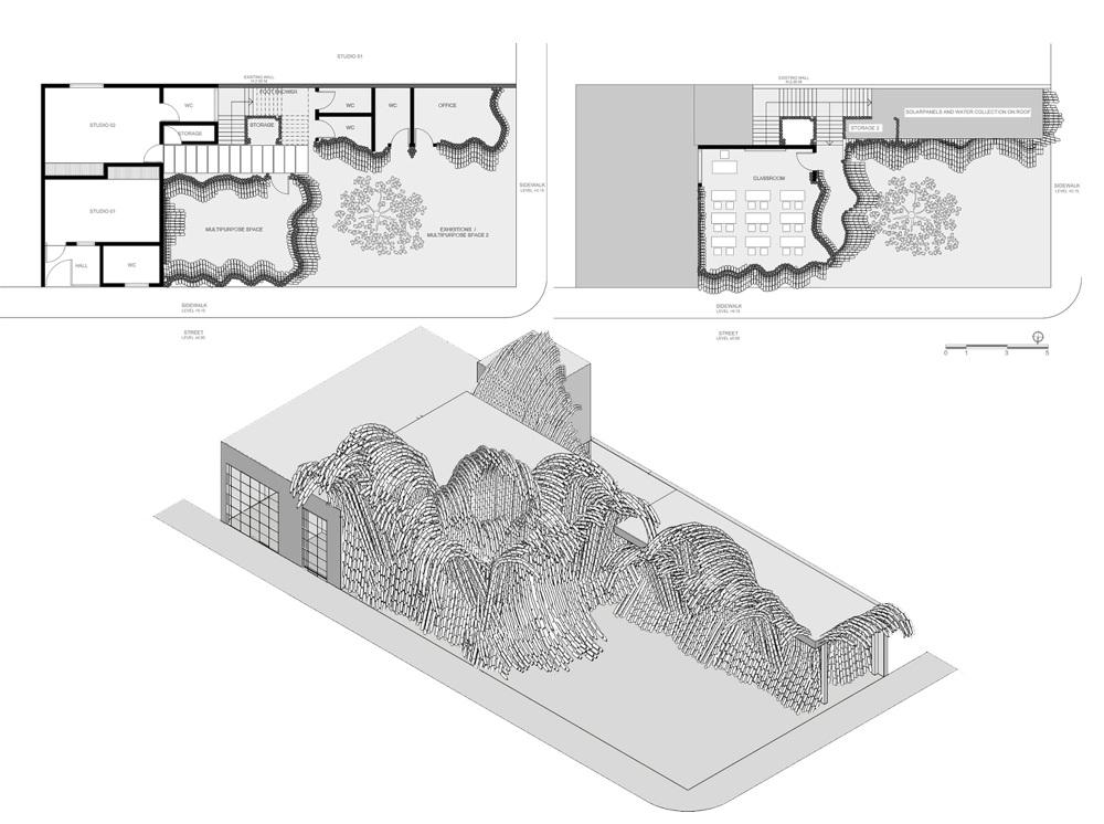 瑞典UMA建築團隊寶特瓶打造的千層巨浪!妝點墨西哥藝術學校6