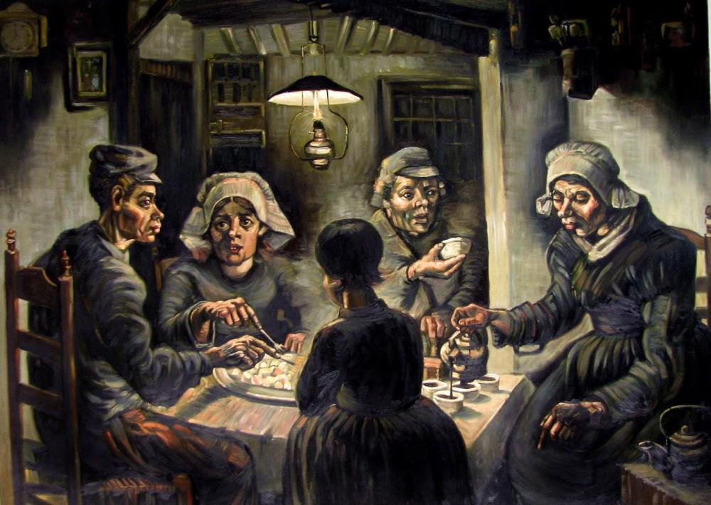 梵谷名畫《吃馬鈴薯的人》