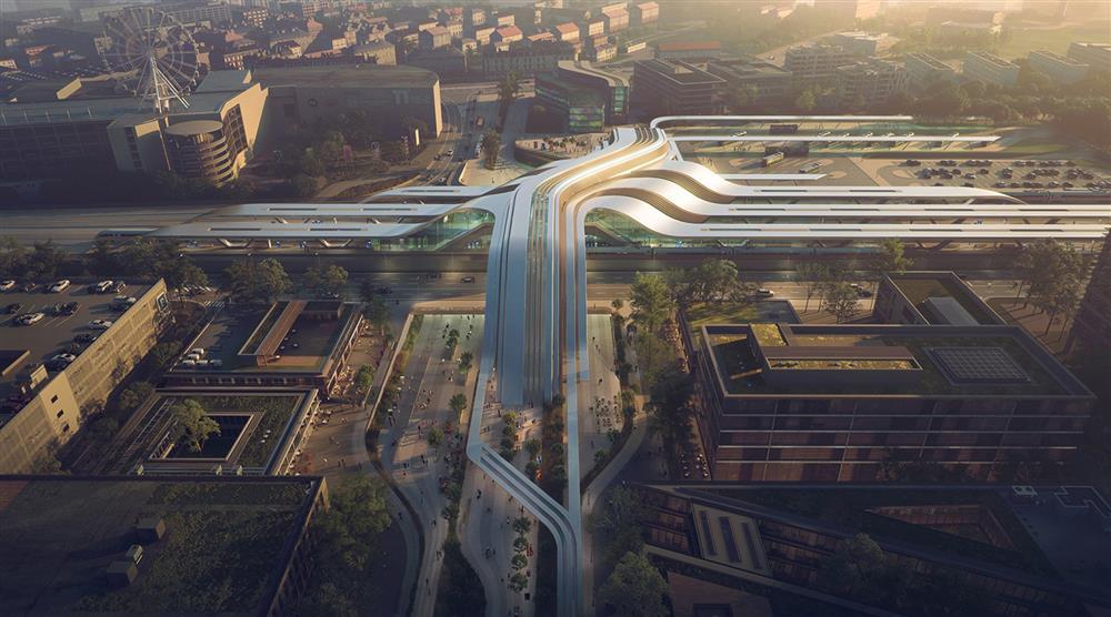 Zaha Hadid建築事務所打造波羅的海巨型轉運站Ülemiste_01