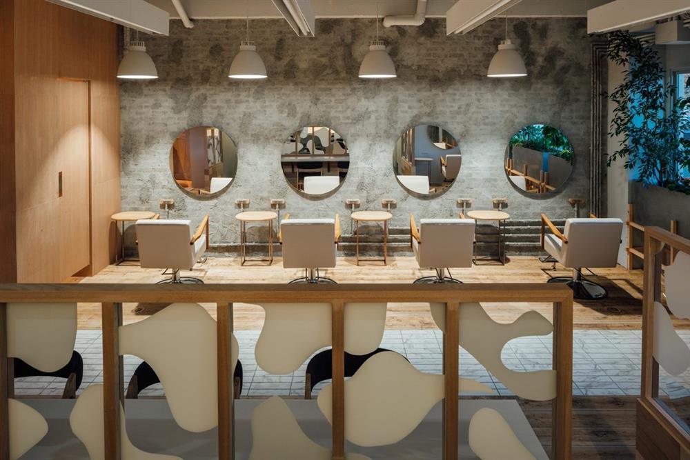 如《天空之城》的日本時尚髮廊!設計團隊FATHOM打造如飄浮飛船的沙龍空間_MIYANISHI yakeyama