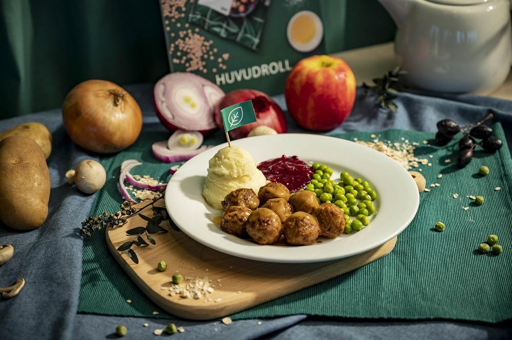 IKEA圖說四:IKEA於10月1日正式推出植物素肉丸,使用豌豆蛋白、馬鈴薯、洋蔥、燕麥、蘋果等豐富的蔬果元素製成