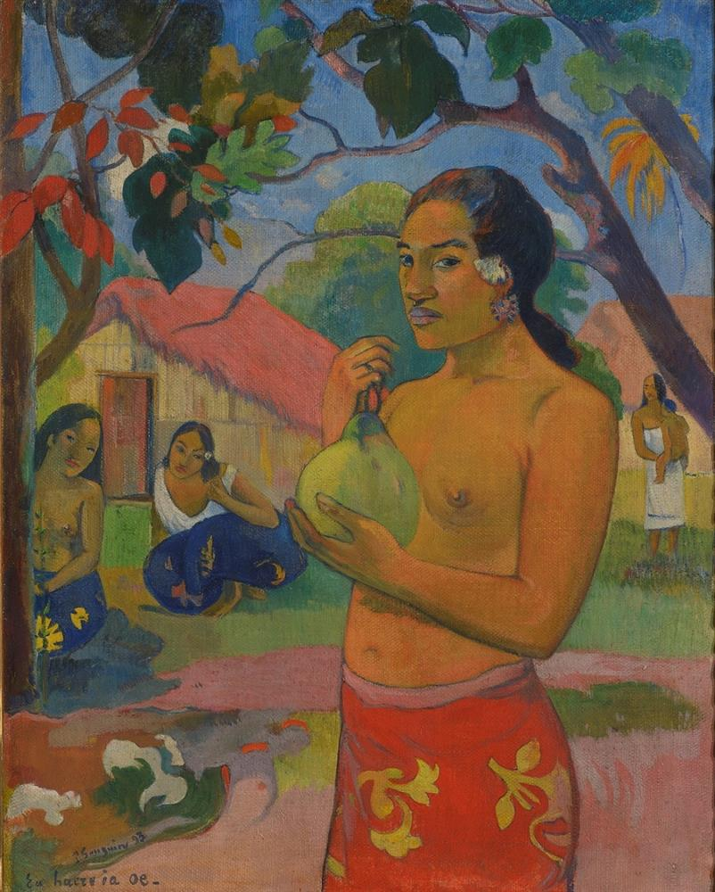Paul_Gauguin_Eu_haere_ia_oe_Ou_vas-tu__La_Femme_au_fruit_Tahiti_1893