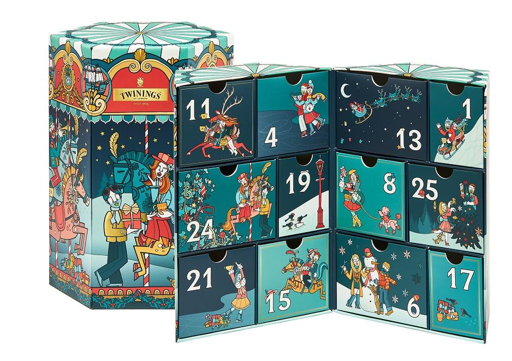 由英國藝術家Allan Deas 創意設計TWININGS唐寧茶獨家鉅獻2020聖誕節慶限量禮品