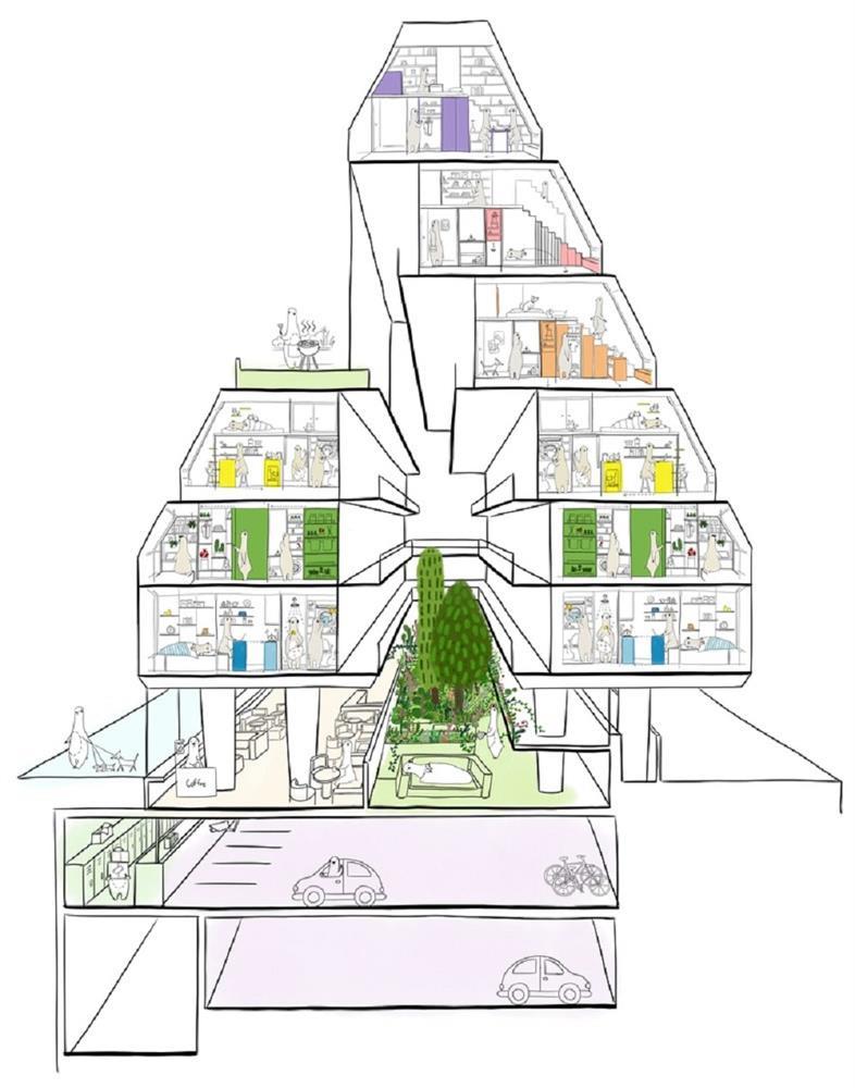租屋族也能享受的高質感生活!韓國共享公寓「樹屋Tree house」綠意中庭花園、大片落地窗環繞_13