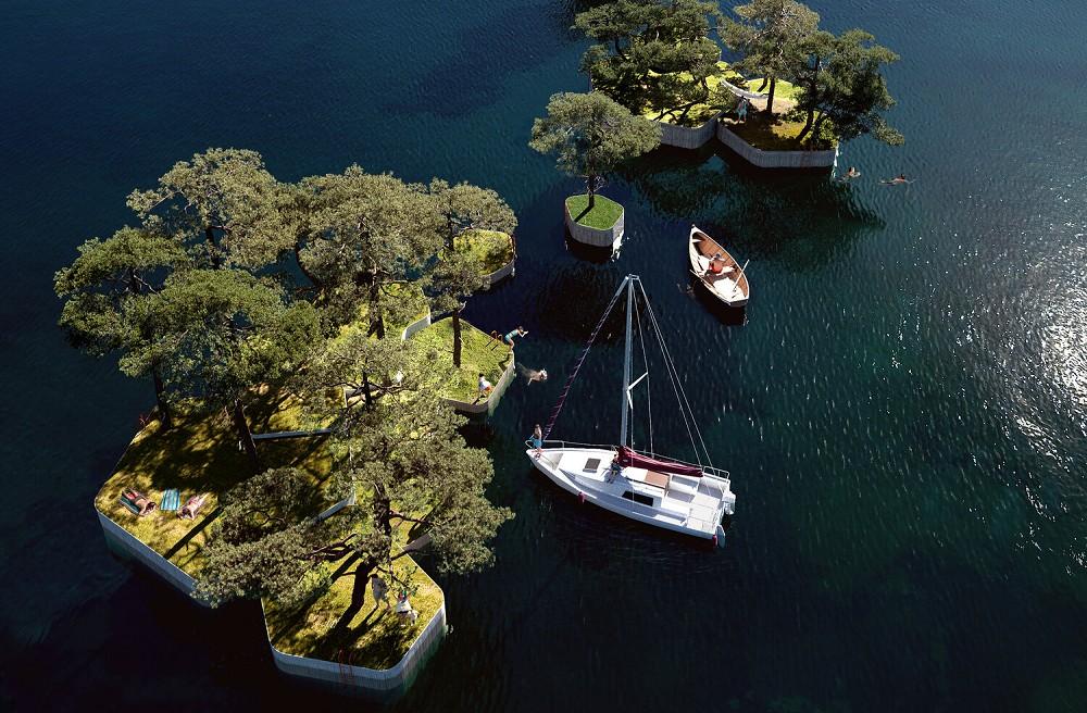 漂浮在海上的木作浮島公園!建築師打造「哥本哈根島嶼計畫」結合桑拿、咖啡廳的新形態公園_01