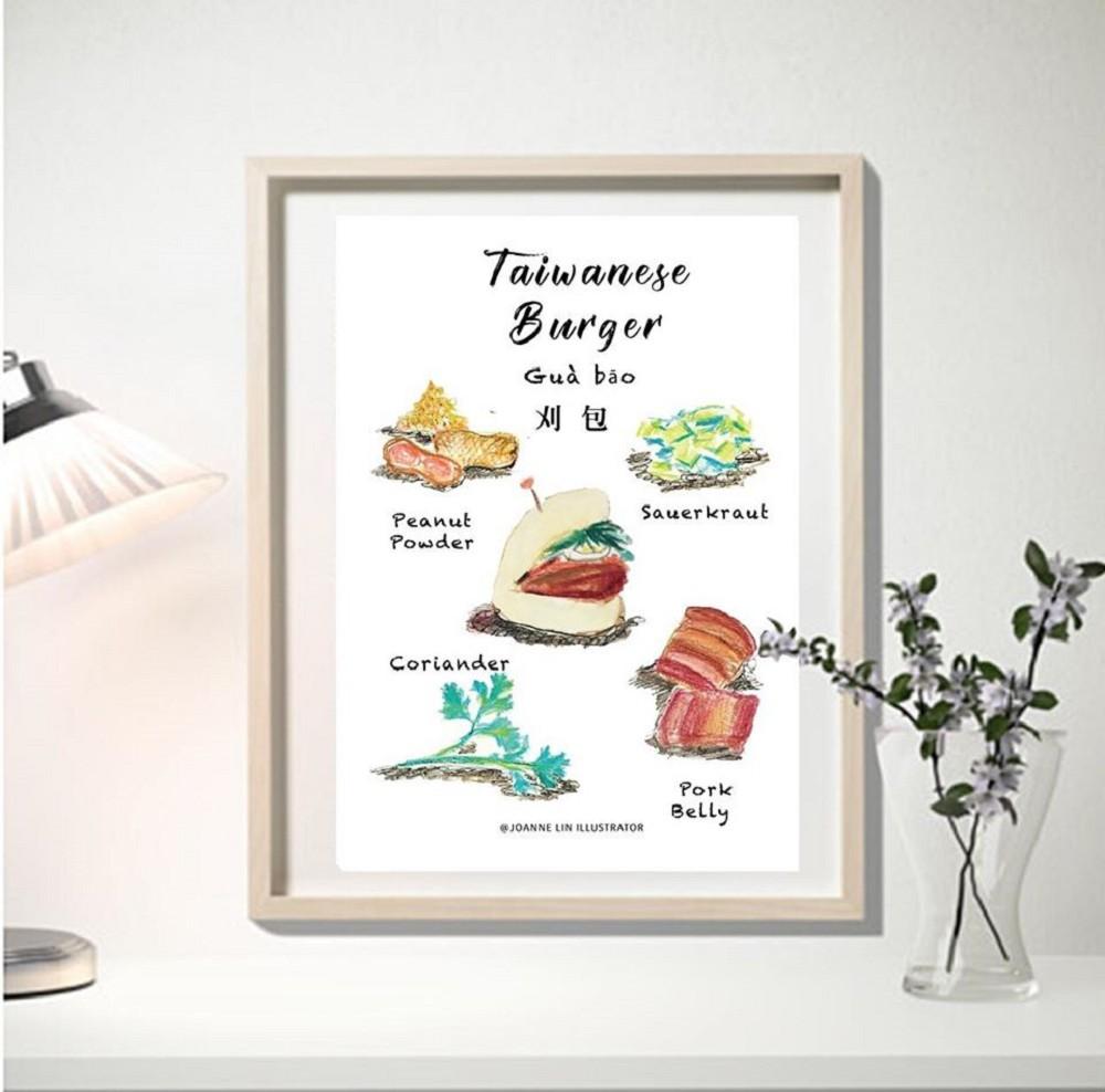 台灣迷人的街頭小吃!台灣插畫家Joanne Lin繪出蚵仔煎、珍珠奶茶等多道在地料理_06