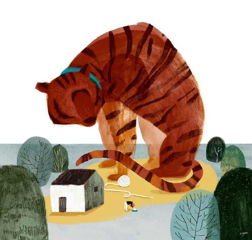 宛如踏進奇幻世界!台灣插畫家Cinyee Chiu筆下結合水彩、水墨、拼貼的繽紛畫風04