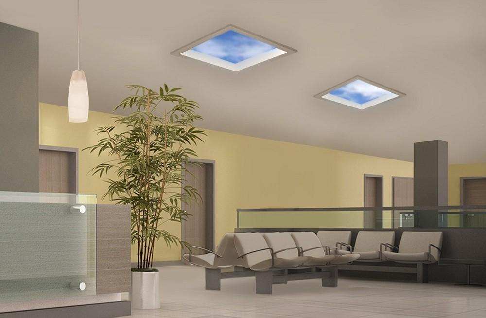 沒有窗戶也能仰望天空!科技品牌推「LED人造窗方案」日光燈以假亂真讓你感受藍天與光照