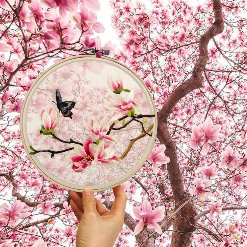 栩栩如生的絕美刺繡!中國藝術家展示盛開百合、飛鶴等精緻絲綢刺繡作品02