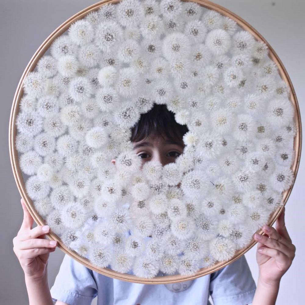 美得令人屏息!英國刺繡藝術家Olga Prinku將花草繡成美麗圖騰、抱枕燈罩全成藝術品_1