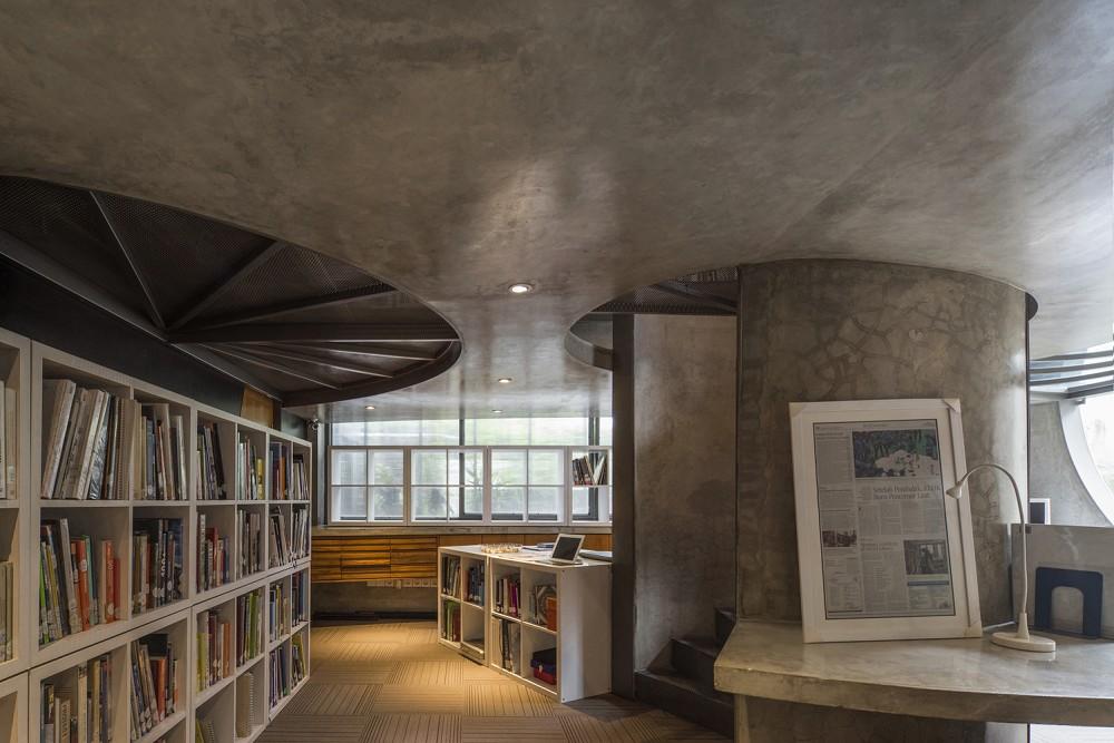 如花園般的夢幻共享建築!印尼Guha結合圖書館、牙科診所、住宅、設計事務所的綠意空間_27