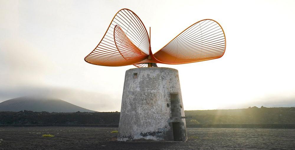 老舊風車新生!法國藝術家重新打造宛如蝴蝶翅膀優美迷人葉片